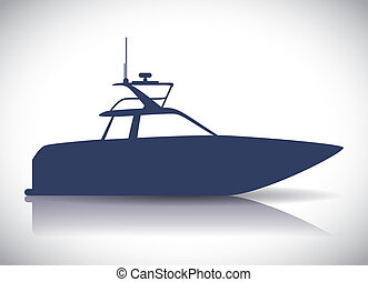 boat design  - boat graphic design , vector illustration