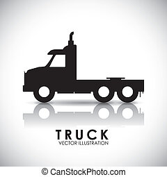 truck deign  - truck icon design ,vector illustration