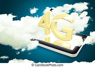 Mobile telecommunication cellular high speed data connection con