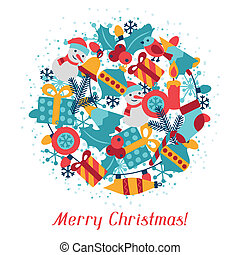Merry Christmas holiday background for invitation card.