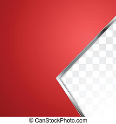 Abstract red background with metal stripe