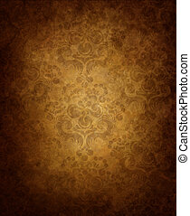 Old wallpaper - Haze old background with seamless floral...
