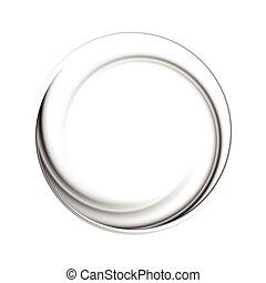 Black circle vector logo shape - Abstract circle black...