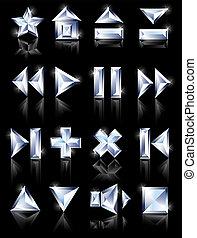 diamond icons diamond icons - diamond cut multimedia icons...