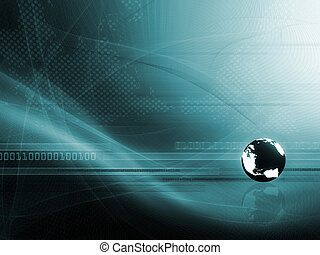 Background with globe - Background with abstract smooth...