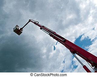 Rescue firefighting baskrt crane