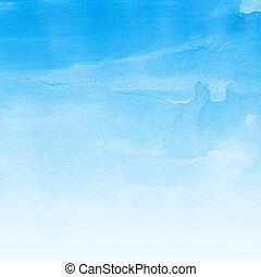 watercolor paper - Watercolor paper texture, blue color...