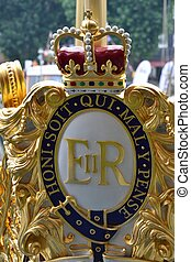 Royal crest on the royal barge