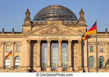 Reichstag Berlin - The Reichstag building in Berlin: German...