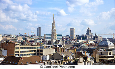 Brussels skyline - Skyline of the city of Brussels, Belgium