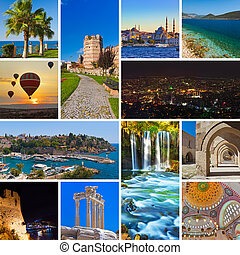 Collage of Turkey images