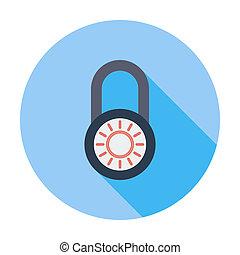 Lock single icon - Lock Single flat color icon Vector...