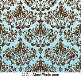 Decorative seamless floral ornament
