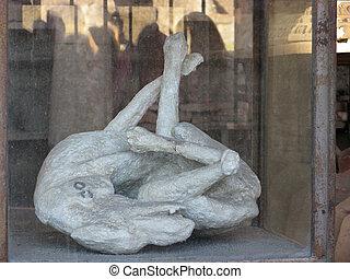 Pompeii men petrified - excavations of Pompeii men petrified...