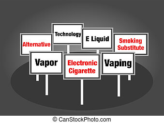 Electronic cigarette signs - Electronic cigarette vaping...