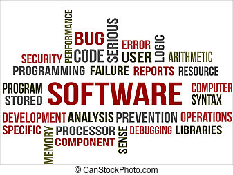 SOFTWARE - A word cloud of Software related items