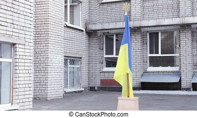 Ukrainian flag school yard - On support Ukrainian flag...