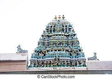 Sculpture on Temple Gopura - Minature sculpture on tower of...