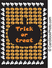 trick or treat - halloween, background, trick or treat