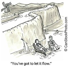 """Therapist - """"You've got to let it flow.""""..."""