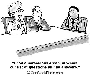 "Answers to Questions - ""I had a miraculous dream in which..."