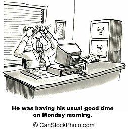 月曜日, 朝