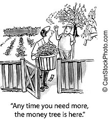 """Money tree - """"Any time you need more, the money tree is..."""