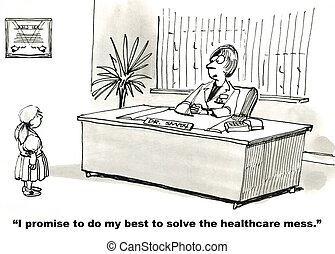 "Public Healthcare - ""I promise to do my best to solve the..."
