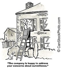 Surveillance - The company is happy to address your concerns...