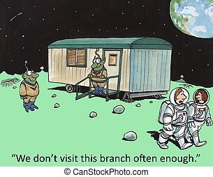 "Branch office - ""We don't visit this branch often enough."""