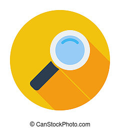 Search single flat icon - Search Single flat color icon...