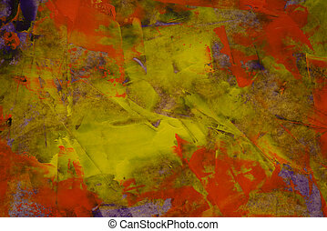 Autumn colors - Abstract watercolor background. Autumn...