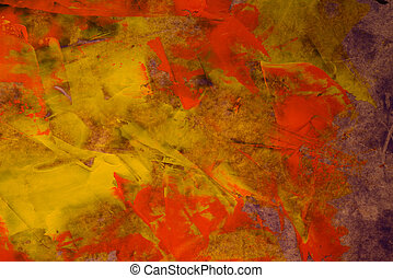 Autumn colors - Abstract watercolor background Autumn...