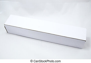 White Long Box isolate on white background