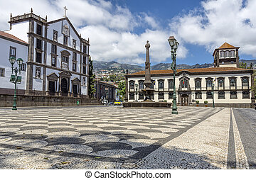 Historic town hall in Funchal, Madeira