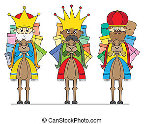Three Kings on camels