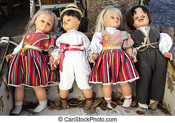Folklore dolls on Madeira island, Portugal