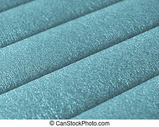 Polypropylene - Green soft polypropylene pillow useful as a...