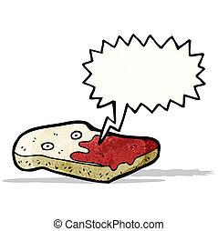 sliced bread cartoon character