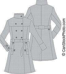womans waterproof trench coat