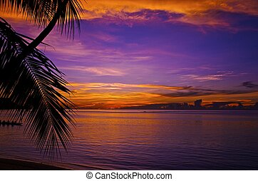 Guam/Sunset - Guam Sunset By James B Clark