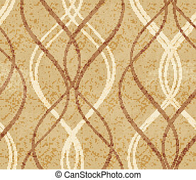 Distressed background with abstract seamless geometric wavy pattern