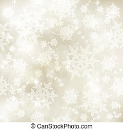 Soft and blurry sepia tone Winter, Christmas pattern -...