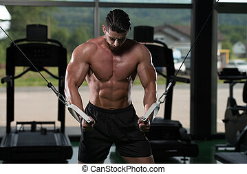 Cable Crossover Chest Workout - Bodybuilder Is Working On...