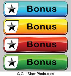 Vector bonus buttons