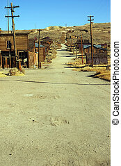 old usa western gold ghost mining town of bodie