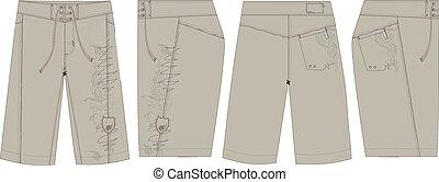 mens surf board short