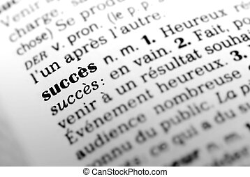 Succes in french dictionary - Formula succes highltighted in...