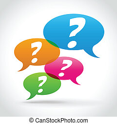 Vector questions concept - Vector illustration of question...