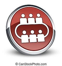 icône,  conférence, bouton, pictogramme